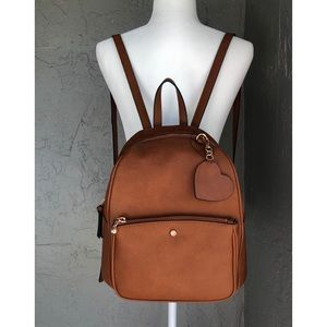 NWT faux leather backpack